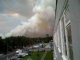 Дым в лесу в районе авторынка. Спустя 30мин.
